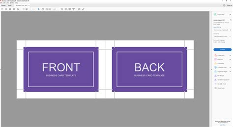 How To Make Front And Back Business Cards In Word