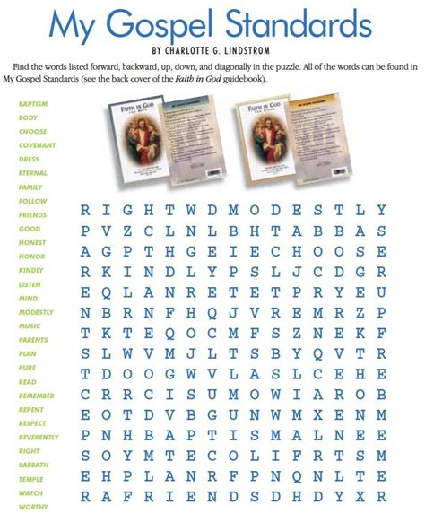 Lds Search My Gospel Standards Word Search This Site Lds Has Tons Of Printables From The