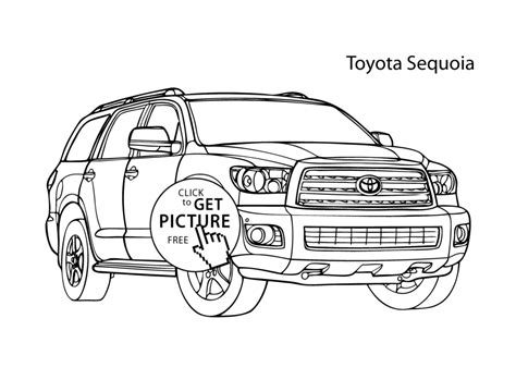 toyota car coloring page super car toyota sequoia coloring page cool car printable