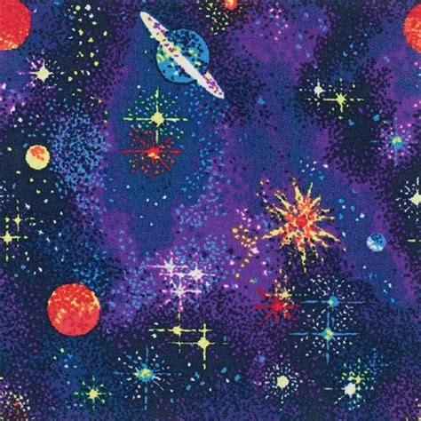 space explorer fluorescent wall  wall carpet  jcw