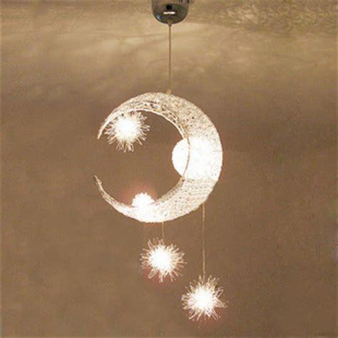 Moon Light Fixture Aliexpress Buy Aluminum Wire Moon Kid S Bedroom Pendant Light Living Room Dining
