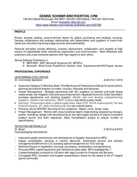 Travel Officer Sle Resume by Sle Resume Content 28 Images Free Sle Resume Procurement Officer 100 Images Finance Sle
