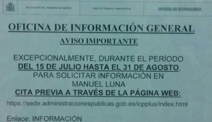oficina de extranjeria bilbao cita previa informaci 243 n extranjer 237 a madrid aviso