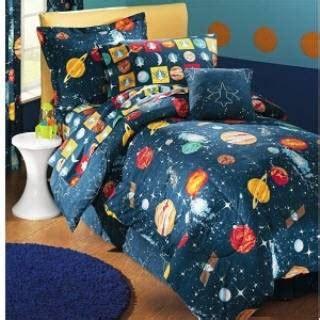 space bedding twin outer space rocket boy children kid comforter bedding set