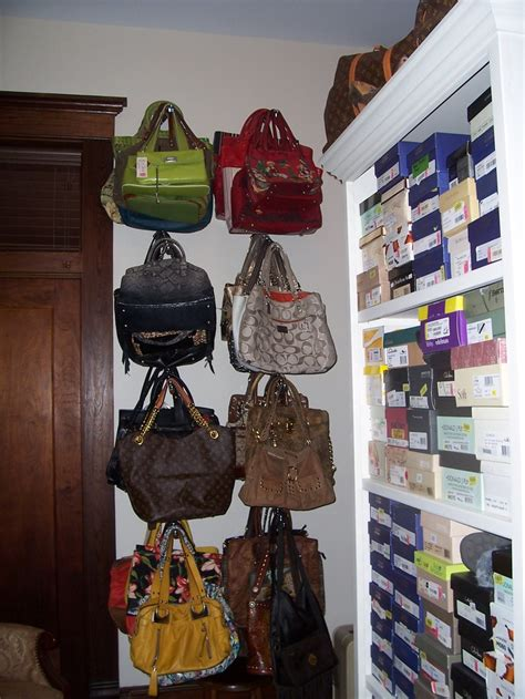 Hang Purses In Closet by Hanging Purses For Purses On On Rod Renovations
