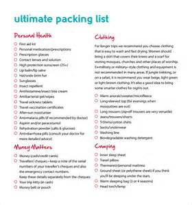 packing list templates 6 free documents download in pdf