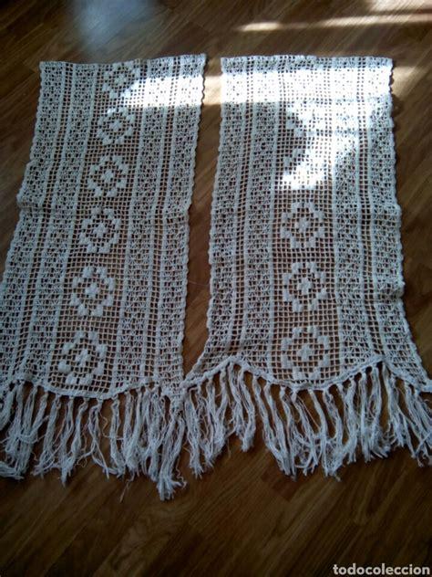antiguas cortinas de ganchillo vendido en venta directa