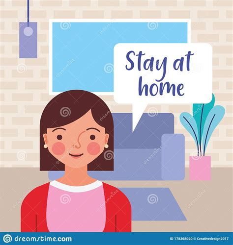 Poster Stay At Home Cartoon Images