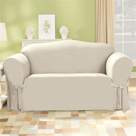 Sure Fit Slipcovers Sofa sure fit slipcovers cotton duck sofa slipcover atg stores