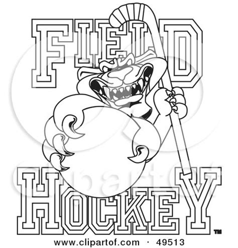 coloring pages field hockey royalty free rf clipart illustration of an outline of a
