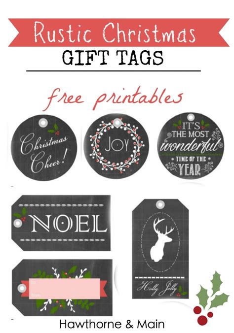 printable rustic christmas gift tags holiday gift tags free printables hawthorne and main