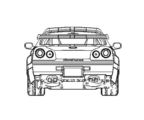 2 Fast 2 Furious Skyline Coloring Page Coloring Pages Fast And Furious Coloring Pages