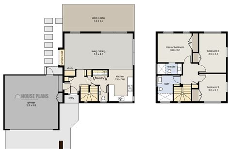 garage house floor plans mono pitch house plans