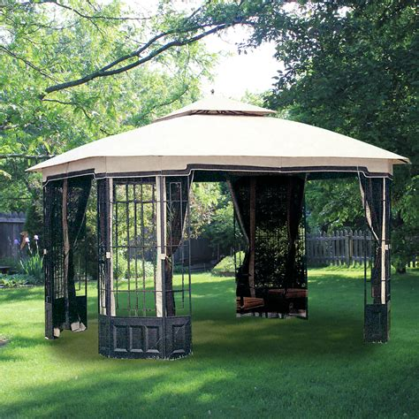 big gazebo big lots gazebo replacement canopy covers and netting sets