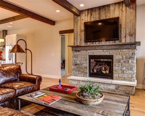 reclaimed wood and stone fireplace wall barnwood fireplace houzz