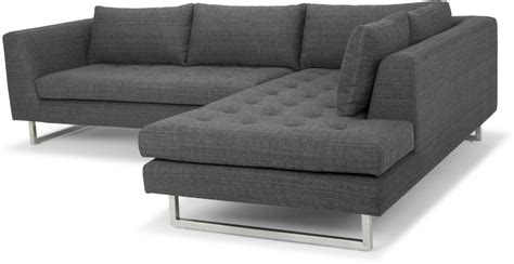grey tweed sectional sofa janis dark grey tweed raf sectional sofa from nuevo