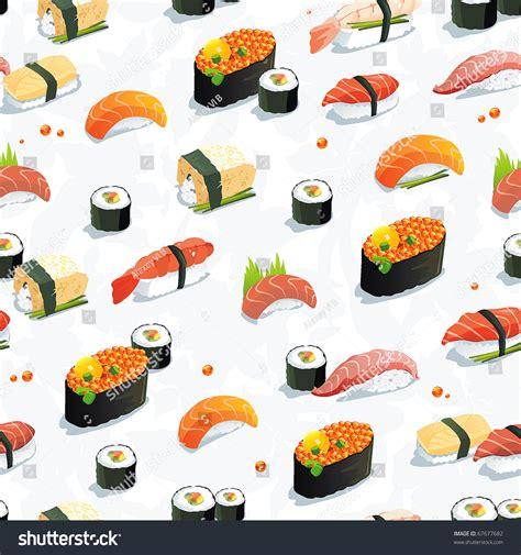 pattern food texture beautiful classic japanese seamless pattern food stock