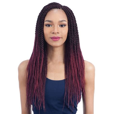 model model glance crochet braid natural finished senegalese twist