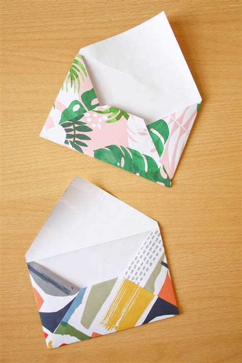 How To Make An Envelope Out Of Wrapping Paper - how to make an envelope out of wrapping paper make and fable
