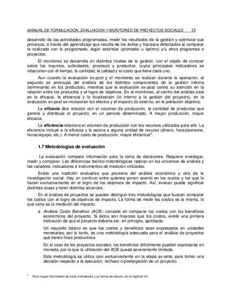 manual formulacin evaluacin y monitoreo de proyectos manual formulaci 243 n evaluacion y monitore de proyectos