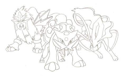 pokemon coloring pages dog legendary dogs by runedragonc on deviantart