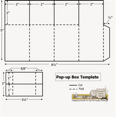 template for card boxes a path of paper top tip tuesday numbers challenge and pop