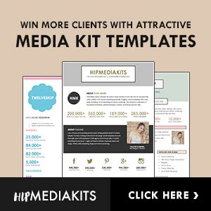 free media kit template new cover photo size template 2017