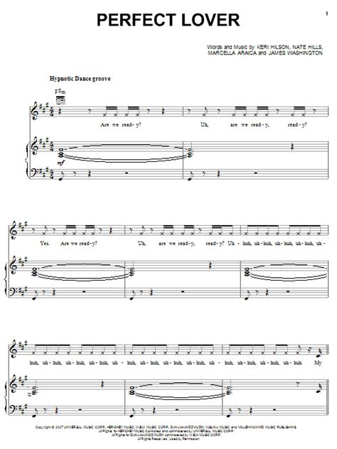 britney spears perfect lover britney spears perfect lover sheet music