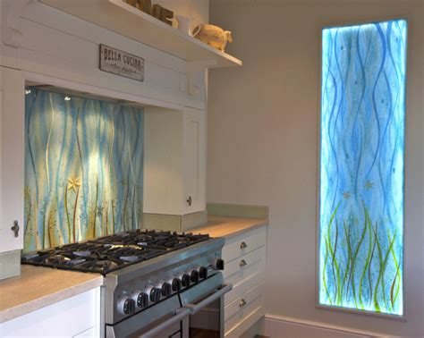 designer kitchen splashbacks coloured glass splashback design ideas photos
