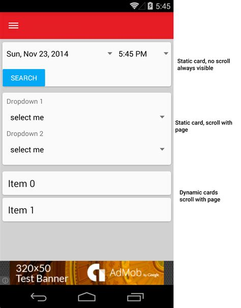 android layout finished event android layout similar to google now stack overflow