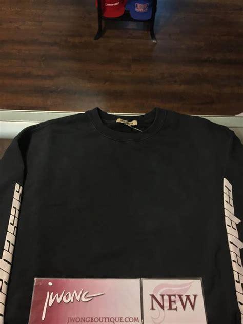 Yeezy Calabasas Crewneck Black White 2017 yeezy season 4 boxy crewneck calabasas black jwong boutique
