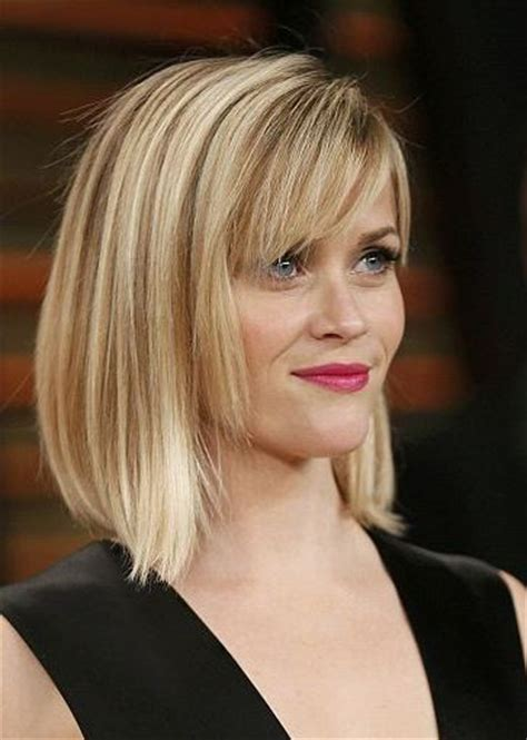 bob hairstyles nz reese witherspoon straight bob with bangs long