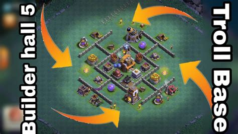 coc special layout stream builder hall 5 troll base clash of clans builder