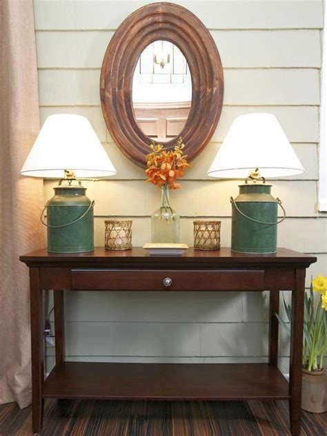 small rustic entryway table rustic style small entry table ideas with oval mirror