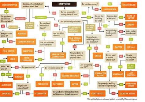 career flowchart humor a politically incorrect guide to a career in