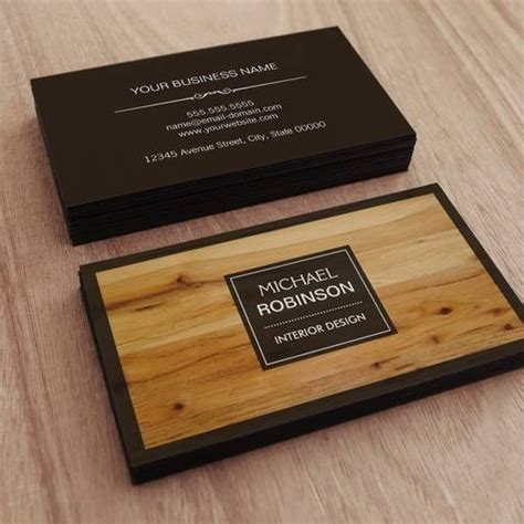 Wood Grain Business Cards