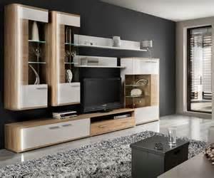 wohnwand wei modern wohnwand mit sideboard weiss hochglanz sonoma eiche hell feinriffel tecnos wohnwand 3 tlg