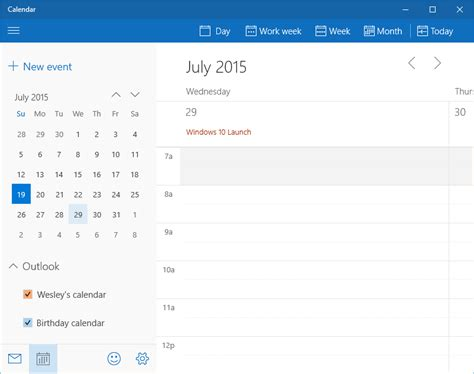 Calendar App For Windows 10 A Look At Windows 10 In Beta Part 4 Nag