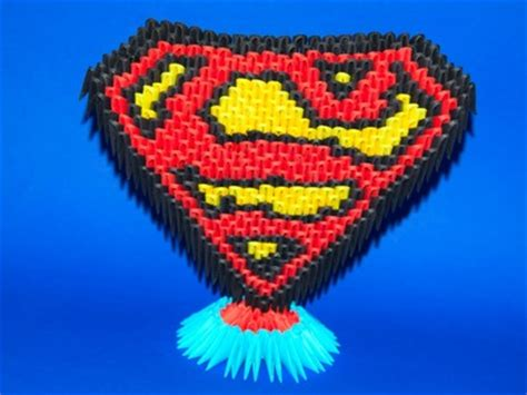 3d Origami Superman - birthday paper diy tissue paper flowers tissue