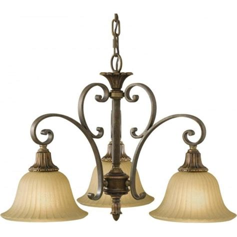 Bronze Ceiling Pendant Or Small Chandelier With 3 Scavo Traditional Ceiling Light