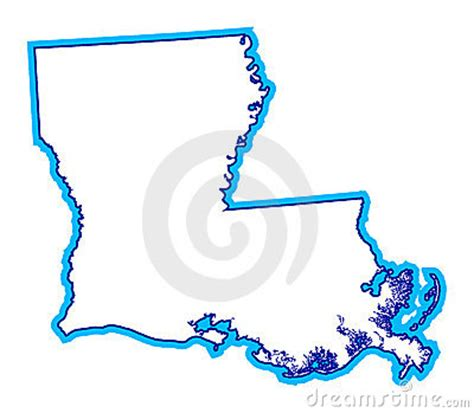 louisiana map drawing outline of state of louisiana royalty free stock images