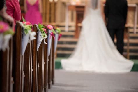 diy church pew cones flowers married with style