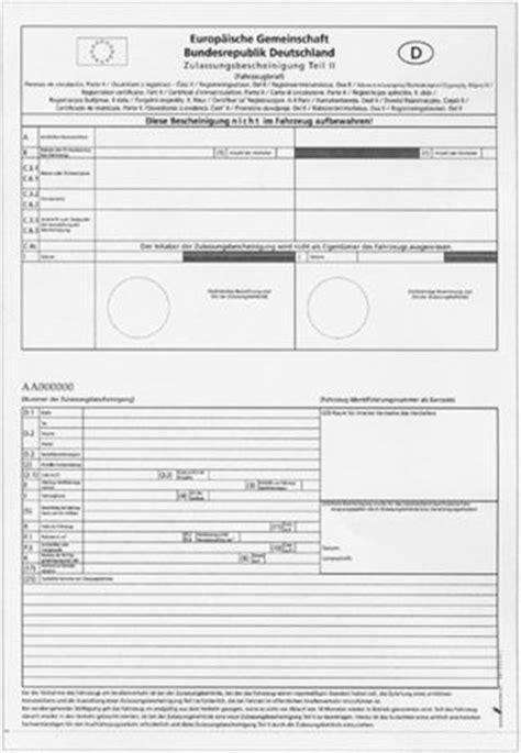 Auto Anmelden Ben Tigte Unterlagen by Awesome Zulassungsbescheinigung Vorlage Vignette Online