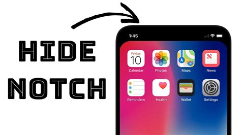 how to hide iphone x notch simple trick