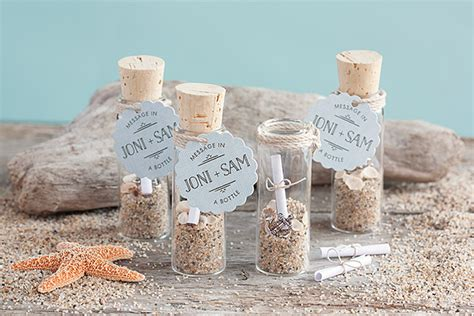 Message in a Bottle Wedding Favors #nautical #beach #tags