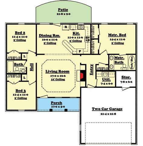 split bedroom ranch home plan 11701hz architectural