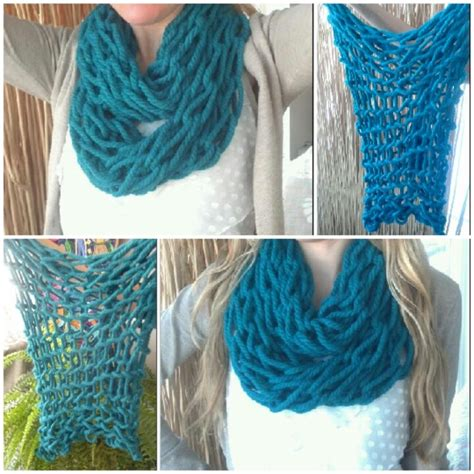 arm knitting scarves arm knitted scarf my crafty