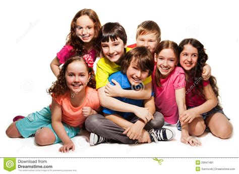 Work And Play Floor Plans group of happy hugging kids stock image image 29947481