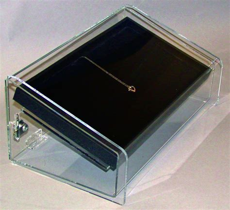 used lockable glass display jewelry display cases black queen anne jewelry display