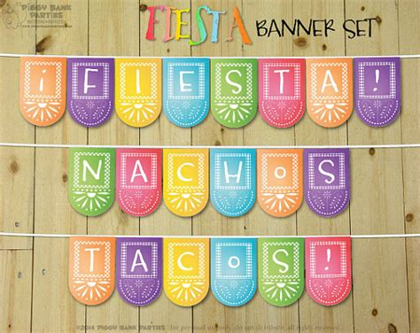 printable mexican banner fiesta banner set diy printable cinco de mayo party